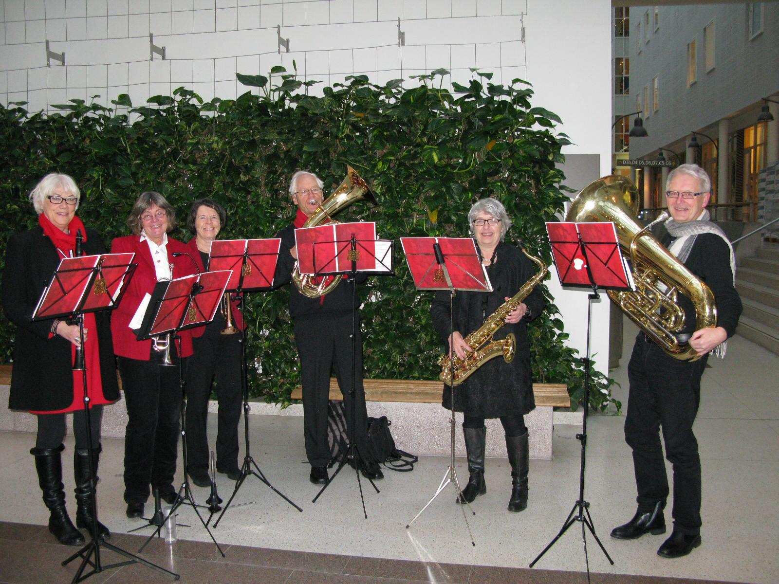 Julaftenspill på Rikshospitalet i 2012.